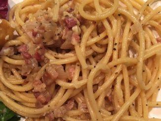 Bucatini with Lemony Carbonara Recipe