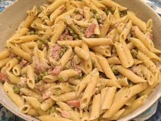 Ham and Pea Penne Recipe