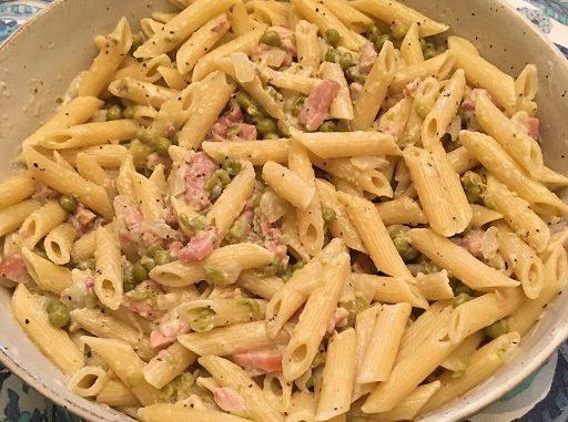 Ham and Pea Penne Recipe