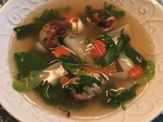 Ginger Meatball Soup with Bok Choy Recipe