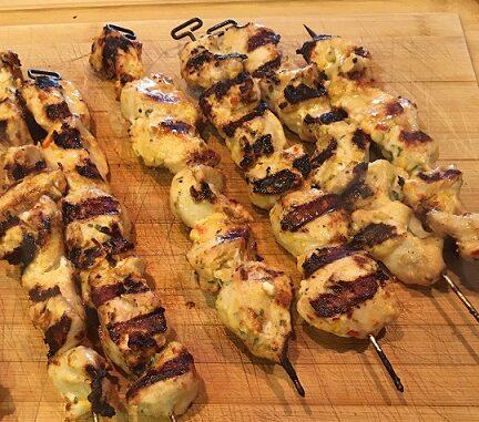 Chicken Kabobs with Harissa Recipe