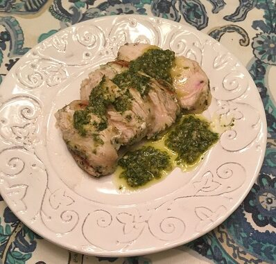 Grilled Chicken Breast with Hatch Chile Chimichurri Recipe
