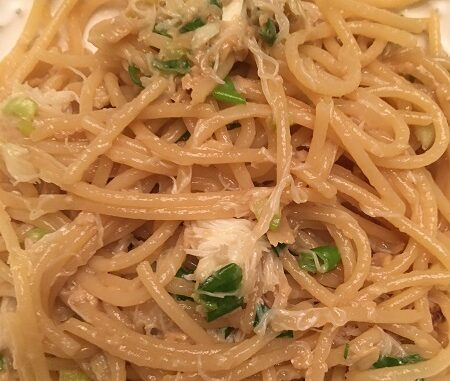 Garlic Noodles with Dungeness Crab Recipe